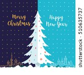 merry christmas and happy new... | Shutterstock .eps vector #510635737