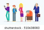 vector set of people   young...   Shutterstock .eps vector #510638083