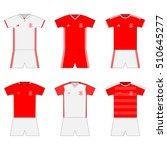 football kit. template. set | Shutterstock .eps vector #510645277