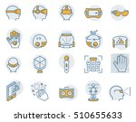 virtual reality icon set in... | Shutterstock .eps vector #510655633