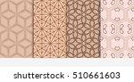 set of seamless vector... | Shutterstock .eps vector #510661603