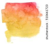 illustration of watercolor... | Shutterstock . vector #510661723