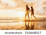 happy cheerful couple having... | Shutterstock . vector #510668017
