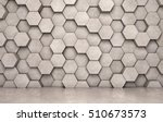 wall of concrete hexagons and... | Shutterstock . vector #510673573