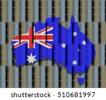 australian flag map on oil... | Shutterstock .eps vector #510681997