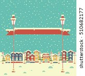 christmas background with... | Shutterstock . vector #510682177