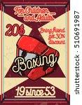 color vintage boxing poster | Shutterstock .eps vector #510691987