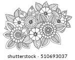 black and white flower pattern... | Shutterstock .eps vector #510693037