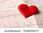 cardiogram chart with red heart | Shutterstock . vector #510694477