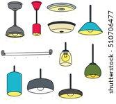 vector set of ceiling lamp | Shutterstock .eps vector #510706477