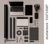 branding stationery mockup...   Shutterstock . vector #510715087