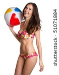 Summer Beach Ball Girl