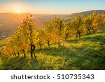 scenic sunset in autumn colours ... | Shutterstock . vector #510735343