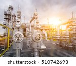 refinery oil and gas industry | Shutterstock . vector #510742693
