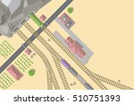 vector illustration. railroad... | Shutterstock .eps vector #510751393