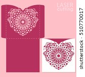 die laser cut vector template.... | Shutterstock .eps vector #510770017