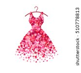 dress of pink rose petals.... | Shutterstock .eps vector #510778813