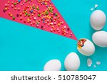 easter greeting card concept ...   Shutterstock . vector #510785047