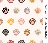 cat paw. seamless vector pattern | Shutterstock .eps vector #510793393