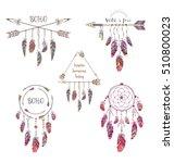 set of boho style design for t...   Shutterstock .eps vector #510800023