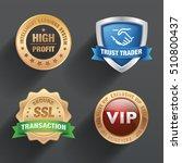 seals design vector. | Shutterstock .eps vector #510800437