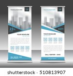 blue roll up business brochure... | Shutterstock .eps vector #510813907