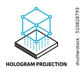 hologram projection icon  and...