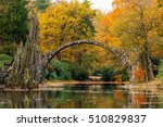 rakotzsee with rakotz bridge ... | Shutterstock . vector #510829837