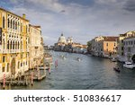 Small photo of View from Academia bridge on Grand Canal and Basilica Santa Maria della Salute and cruise ship, Venice, Italy