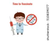 vaccination and health concept. ... | Shutterstock .eps vector #510839077