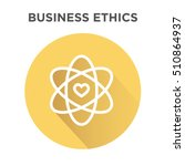 business ethics icon in circle... | Shutterstock .eps vector #510864937