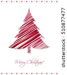 modern abstract christmas card...   Shutterstock .eps vector #510877477