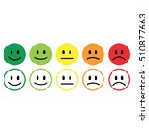 five smile icon emotions... | Shutterstock .eps vector #510877663
