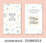 wedding set. romantic vector... | Shutterstock .eps vector #510883513