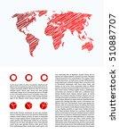 business infographics  report...   Shutterstock . vector #510887707