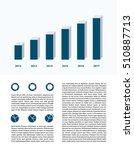 business infographics  report...   Shutterstock . vector #510887713