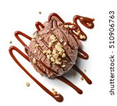 chocolate ice cream ball and... | Shutterstock . vector #510906763