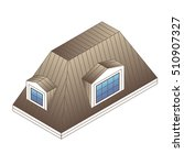 pitched mansard roof with... | Shutterstock .eps vector #510907327
