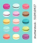 macaroons pattern. vector... | Shutterstock .eps vector #510910927