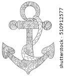 sea anchor coloring book vector ... | Shutterstock .eps vector #510912577
