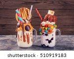 Two Homemade Extreme Milkshake...