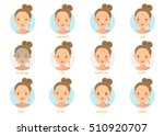 skin problems.vector... | Shutterstock .eps vector #510920707