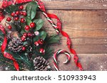 christmas and new year... | Shutterstock . vector #510933943