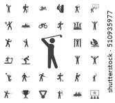 golf player icon on the white... | Shutterstock .eps vector #510935977
