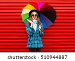 fashion cheerful smiling woman... | Shutterstock . vector #510944887
