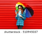fashion pretty young smiling... | Shutterstock . vector #510945037