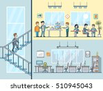 linear flat business men and... | Shutterstock .eps vector #510945043