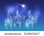 stylized biblical christmas... | Shutterstock .eps vector #510945427