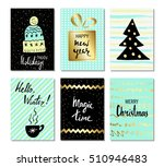 christmas and happy new year... | Shutterstock .eps vector #510946483