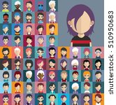 set of people icons in flat... | Shutterstock .eps vector #510950683